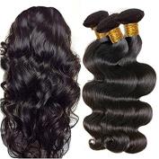 YYONG Brazilian Virgin Hair Body Wave Hair Weave 4 Bundles Full Head Set Unprocessed Virgin Human Hair Weave Natural Black 20cm - 70cm