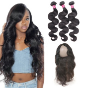 """ItsUhair 3 Bundles Peruvian Body Wave With 360 Lace Frontal Closure 22""""4""""2"""" Ear to Ear for Full Head 18 20 22 +360 14"""""""