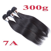 7A 300g Silky Straight Unprocessed Brazilian Human Hair Weft Hair Extension Natural Black 1B# 8-30 BHD Beauty