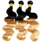 Brazilian Virgin Remy Gradient Body Wave Human Hair 4 Bundles, Cecillia 9A Weaves 100% Unprocessed Extensions Hair