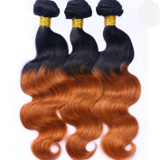 Cecillia 9A Brazilian Virgin Remy Gradient Body Wave Human Hair 100% Weaves Unprocessed Extensions Hair 36cm