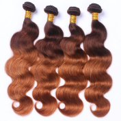 Brazilian Virgin Remy Gradient Body Wave Human Hair, Cecillia 9A Weaves 100% Unprocessed Extensions Hair 60cm