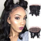 Enoya Brazilian Loose Wave Silk Top Frontal Bleached Knots 13X4 Virgin Human Hair Ear To Ear Full Lace Frontal Piece With Baby Hair