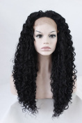 Lace Front Wigs for Black Women Long Curly Synthetic Wigs with Baby Heat Resistant Front Lace Wigs