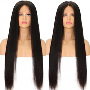 Ten Chopstics Wig 360 Lace Frontal Closure Silky Straight 100% Human Hair Brazilian Wigs for Black Women Bleached Knots Natural Baby Hair