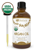 UpNature The Best Moroccan Organic Argan Essential Oil 120ml - Pure Unrefined GMO Free Premium Quality - With Glass Dropper - Great For Diffuser & Conditioner