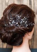 FXmimior Bridal Women Vintage Wedding Party Purple Hair Pins Crystal Hair Accessories