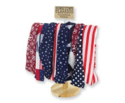 DM Merchandising Hometown Classics Collection Headwrap, Headband, One Size Fits Most, Patriotic Design, Red, White, Blue Patchwork Quilt