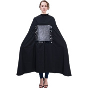 Salon Hairdressing Hair Cutting Cape Barbers Gown Wrap With Window Can Play Phone Button Design