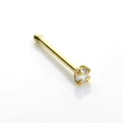 9ct Gold & Diamond Nose Pin Stud - Ball End