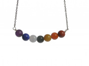 ZENstore Chakra Necklace 50 cm Unisex, Gemstones, Multicolour, Handmade