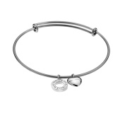 Emozioni by Hot Diamonds Silver Plated Bangle - Large