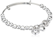 Emozioni Polished Beads Stainless Steel Bangle