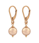 Earrings rose gold pearl - 925 silver 18ct rose gold plated - ARLIZI 1229