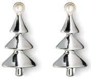 Anderson & Webb Silver Plated Christmas Tree Stud Earrings