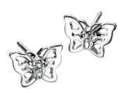 D for Diamond Filigree Butterfly Stud Earrings