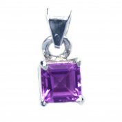 Amethyst pendant in sterling silver - Stone size 6mm