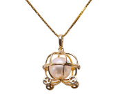 JYX 14K Gold 8mm Akoya Pearl Pendant Necklace
