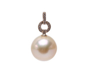JYX 14K Gold 15mm Golden South Sea Pearl Pendant Necklace