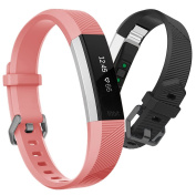 Hanlesi Fitbit Alta HR Band , Newest Universal Fitbit Alta HR / Fitbit Alta Band Replacement Sport Fitness Wristband Strap with Secure Metal Buckle for Fitbit Alta HR 2017