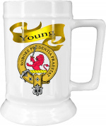 Scottish Clan Young on New Ceramic Beer Stein