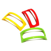 Set of 12 Original Homey Product Taco Holders - Colourful Non Toxic BPA Free Microwave Safe Stands for Soft and Hard Shells