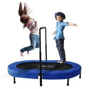Merax Parent-Child Trampoline Twin Trampoline with Adjustable Handlebar