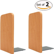 Da Jia Inc 1 Pair 13cm Beech Wood Bookends For Home Office School Desk Book Ends Decorative Bookshelf Display Organisers Gift