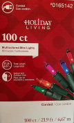 Holiday Living 100 Count Christmas Mini Lights, Multi Colour, Indoor / Outdoor