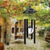 Zehui Solar Powered Colour changing Light Wind Chimes Rotating Light LED Lamp For Garden