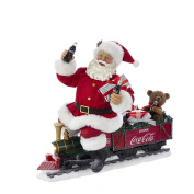 Kurt Adler CC5171 33cm Battery-Operated Coca-Cola Santa Train with LED Garland