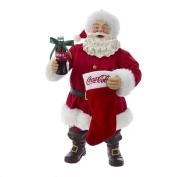 Kurt Adler CC5172 Santa with Coke Bottle and Stocking