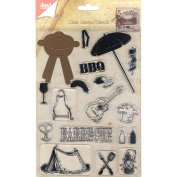 Joy! Crafts Cutting Die & Clear Stamp-Barbecue