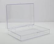 Clear Hinged Plastic Box 18cm L x 13cm W x 4.4cm H - 4 Pieces Per Pack