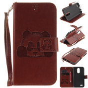EC-touch Simple Beautiful Colourful Flower [Magnetic] Style PU Leather Case Wallet Flip Stand [Flap Closure] Cover for LG