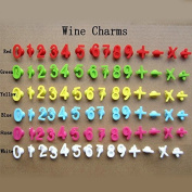Kangkang@ 14 PCS Number Shape Silicone Wine Glass Markers Cup Markers Cup Labels with Suction Cup Party Accessories Set
