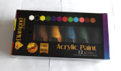 Acrylic Paint Set 12 Extra Large 75ml Tubes Best Selling Colours Perfect For Painting Canvas, Wood, Clay and Ceramic Professional Quality for Artists & Beginners, FREE 3 Brushes by Diamond Driven