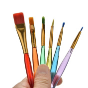 TUANTUAN 6 Pcs Professional Painting Set Colourful Acrylic Oil Watercolours Artist Paint Brushes