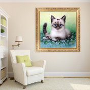 NNDA CO DIY 5D Diamond Embroidery Cute Cat Cross Stitch Rhinestone Painting Home Decor,1Set