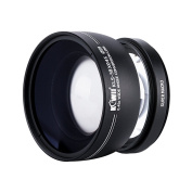 Kiwifotos 58mm 2in1 0.45X Wide Angle Conversion Lens + 10X Magnification Super Marco Lens, with Rear and Front Lens Cap, Lens Bag, Cleaning Cloth