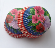 50 count Tropical Flowers Floral Liners Cupcake Liners Liner for Standard Size Cupcakes