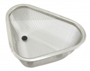 Mesh Stainless Steel Corner Kitchen Sink Strainer 18cm x 13cm Silver