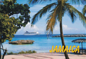 Island of Jamaica, Beach, Palm Trees, Souvenir Magnet 2 x 3 Fridge Photo Magnet