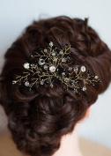 FXmimior Bridal Women Black Vintage Wedding Party Crystal Rhinestone Vintage Hair Comb Hair Accessories