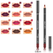Baomabao 12 Colours Lipliner Makeup Professional Waterproof Lip Liner Pencil