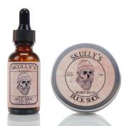 Skully's Buck Shot Beard Oil 30ml & Beard Balm 60ml, Beard kit
