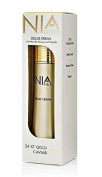Nia Gold Luxury Anti-Ageing Skin Care Deluxe Cream with Manuka Honey, Propolis, 24kt Gold, Caviar. 120ml cream for face and body.