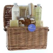 Birthday Gift Basket, Bath And Body Holiday Gift Sandalwood Naturals Spa Basket