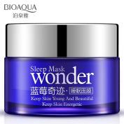 BIOAQUA Sleeping Wonder Mask Cream Nutritional blueberry Gentle Moisturising 50g