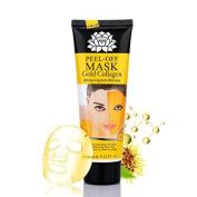 Molain 24K Gold Mask Golden Facial Collagen Peel off Moisturising Anti-wrinkle Anti-ageing Whitening for Face Care
